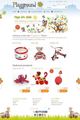 تصویر 2 تم  ناپ کامرس - playground-responsive-theme-for-nopcommerce