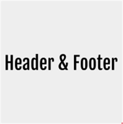 Header and Footer افزونه